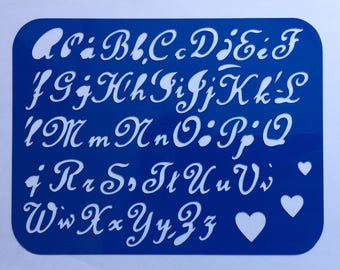 Alphabet Stencil (Hearts) **Introductory Price!!**