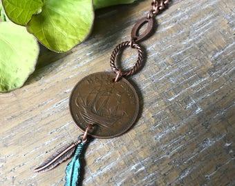 Antique coin choker