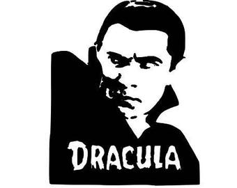 Dracula Vampire Horror Halloween Vinyl Car Decal Bumper Window Sticker Any Color Multiple Sizes