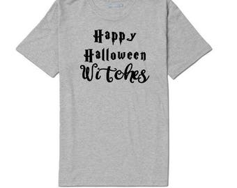 Happy Halloween Witches Funny Unisex T Shirt Many Sizes Colors Custom Horror Merch Massacre