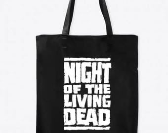 Night of the Living Dead Horror Canvas Tote Bag Market Pouch Grocery Reusable Halloween Merch Massacre Black Friday Christmas