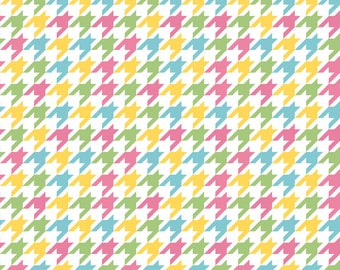 Riley Blake Multi Houndstooth - Houndstooth Cotton Fabric - 100% Quilting Cotton