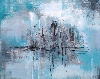 Abstraktes Acrylbild, abstrakte Kunst, abstrakte Malerei, abstract artwork, modern art