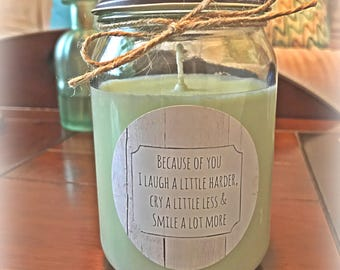 Best Friend Gift | Soy Candle | Custom Message | All Natural