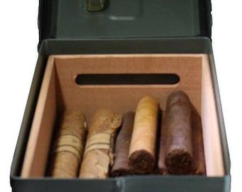 50 cal Ammo Can cigar humidor - no text