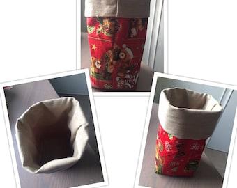 Reversible Christmas basket