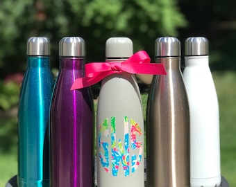 Stainless Steel Water Bottle, Monogrammed Water Bottle, Personalized Water Bottle, Custom Water Bottle, Bridesmaid Gifts