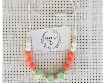 Tangerine Dream ~ silicone teething necklace