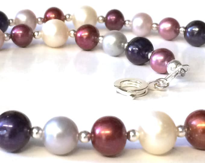 AAA Grade Multi-coloured Freshwater Pearl  Necklace