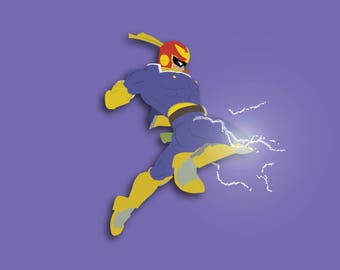 Super Smash Bros. - Captain Falcon (Knee of Justice) Print