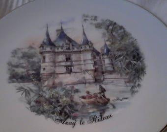 "Limoges plate, ""Azay curtain"""