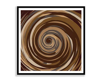 Swirl 12X12 Printable Art, Instant Download
