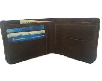 mens leather wallet(9 colors)mens wallet front pocket wallet leather wallet brown cool wallets for men slim wallets for men bifold wallet