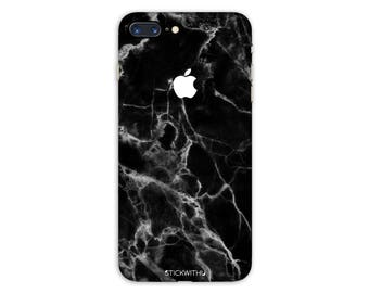 Black Marble iPhone Skin marble iPhone Sticker Case Black Marble iPhone Decal  iPhone 7  plus iPhone 6 iPhone 6s 6 plus 5 5s SE PS002