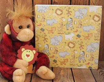 Baby Animals,Baby Shower Gift,Nursery Wall Art,Nursery Wall Decor,Wood Signs,Baby Boy Gift,Baby Girl Gift,Wood Wall Decor,Framed Wall Art,