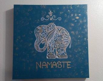 Namaste Painting, Ganesh, Spiritual. Hindu
