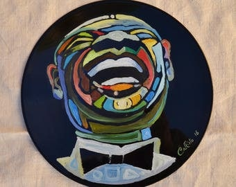 """Vinyl painting """"Armstrong"""", Record Art"""