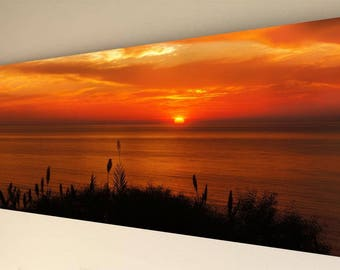 Panorama Canvas Wall Art - Sunset #4 [A11] - choice of size