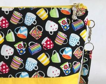 Time for Tea - Medium project bag for Knitting/Crochet