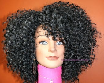 "READY TO SHIP //Synthetic crochet wig  ""Voluminously Sassy"""