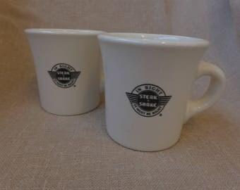 "Pair of ""Steak & Shake"" Coffee Mugs"