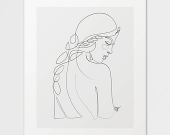 Olive - Fine Art Print of One Single Line Illustration