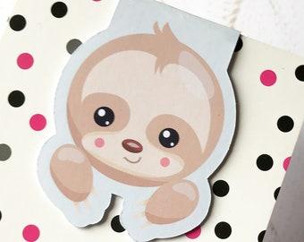 Magnetic Bookmark. Sloth Bookmark. Cute Sloth