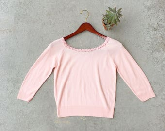 1950's Roberta Knitwear Scoop Neck Sweater