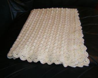 machine washable Merino Wool crochet baby blanket