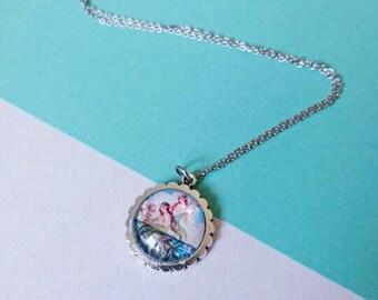 Vintage Mermaid Pendant Silver