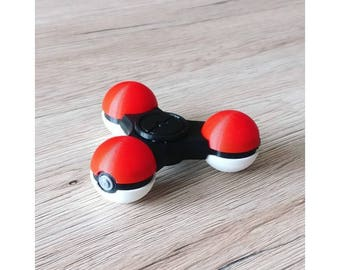 Pokemon Fidget Spinner Best Fidget Spinner Toy! Triple Fidget Toy Spinner Fidget Hand Spinner  poke ball  ADHD  ****THE ORIGINAL !!!!****
