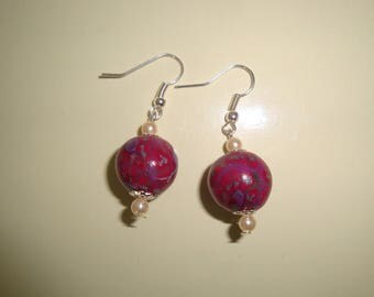light plum earrings