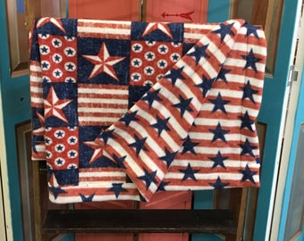 Americana Stars & Stripes Adult Fleece Blanket