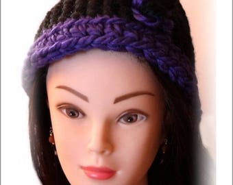 Hat. A knit-crochet creation. Created handmade Agnes Deiber Velten - wink Nature