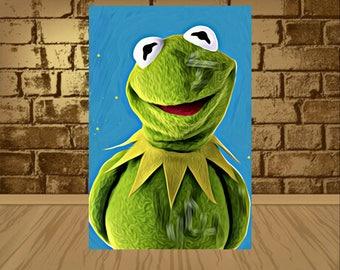 kermit poster,kermit print,kermit art,kermit the frog poster,kermit the frog print,kermit the frog art,home decor,painting print,artwork,art