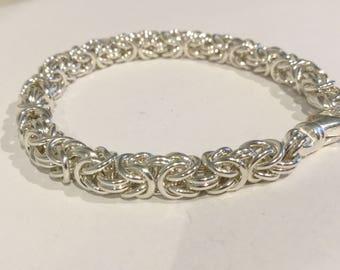 Silver Bracelet with Byzantine link
