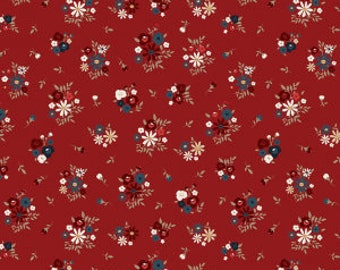 Floral Red American Heritage fabric by the yard - Penny Rose Fabrics - Riley Blake - patriotic - 4th of July - red, white, and blue -summer