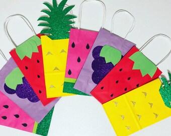 Tutti fruitti party favor bags
