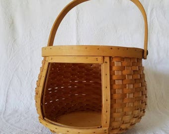 Vintage Woven Round Basket with Window