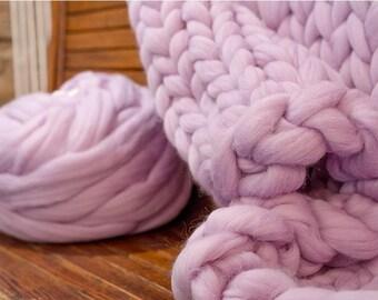 Giant 100% Merino Wool soft, knit giant arm fiber Size XXL. Chunky yarn, extreme, big wool, fiber, jumbo