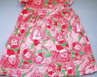 Girls Lilly Inspired Santa Lion Dress