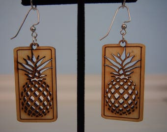 Pineapple Cutout Earrings