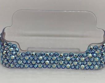 Light Sapphire Swarovski Card Holder