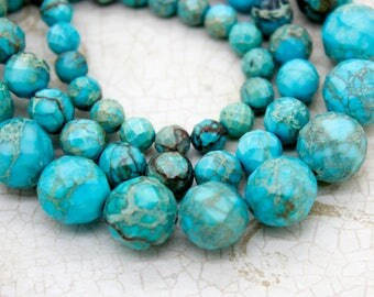 Snake Skin Jasper Faceted Round Gemstone Beads (6mm 8mm 10mm 12mm)
