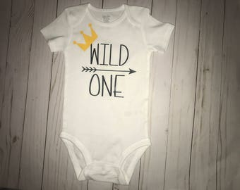 Wild One 1st Birthday Shirt- Wild One Shirt- Wild One Bodysuit- 1st Birthday Shirt- 1st Birthday Bodysuit