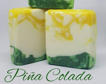 Small Piña Colada Handcrafted Soap