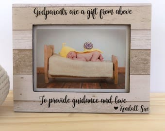 Personalized Godmother Frame Godparents Frame Godmother Gift Goddaughter Godson Frame Godparents Thank You Gift Baptism Dedication Christeni