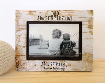 Dad frame. Father's Day gift. First Father's Day frame. New Dad gift. New Dad picture frame. Father's Day 2017