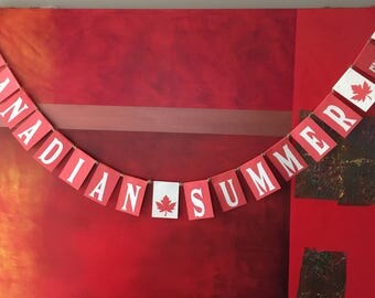 Canadian Theme Party Garland-CUSTOM ONLY