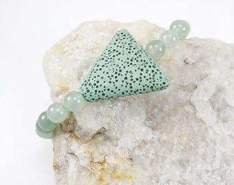 Lava Stone Bracelet - Yoga Bracelet - Lava Rock Bracelet - Bracelet - Diffuser Bracelet - Essential Oil Bracelet - Gift for Her